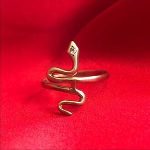 Vintage 10k gold snake/serpent ring